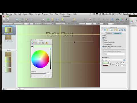 Using Apple Keynote! with Steve Laskevitch: Class 1