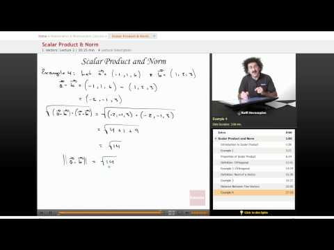 Multivariable Calculus: Scalar Product & Norm