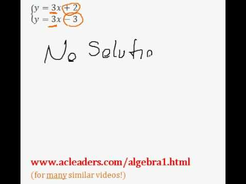 System of Equations - NUMBER OF SOLUTIONS. EASY!!!! (pt. 1)