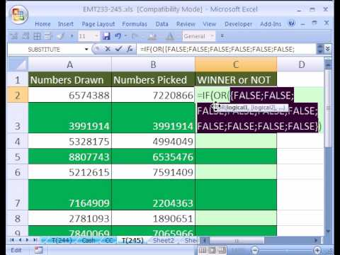 Excel Magic Trick #245: Matching 2 Lists w IF & OR functions