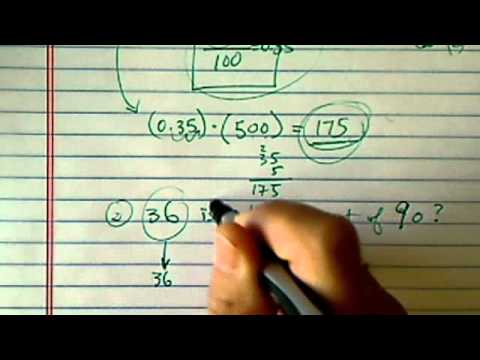 Percent, decimals and fractions -- Part 3 of 3:  Examples