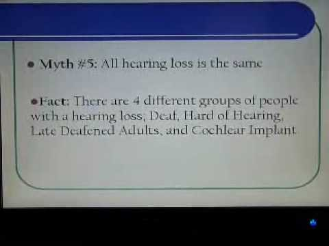 Facts about deafness