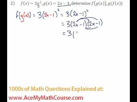 Functions - Function Composition Question #2
