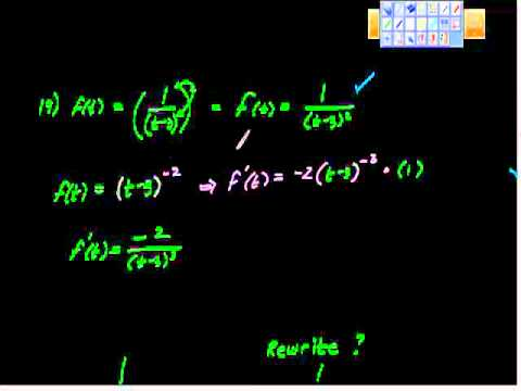 Review of Basic Differentiation Rules (Calculus I)