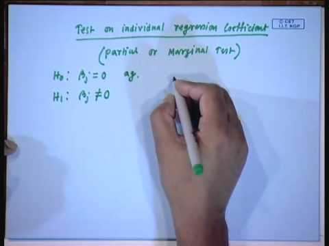 Mod-01 Lec-07 Lecture-07-Multiple Linear Regression (Contd...1)