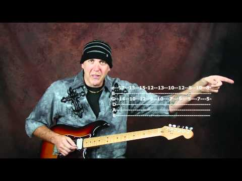 Lynch pin LICKS lead solo guitar lesson get out of Pentatonics with JAM TRACK arpeggios & TABS