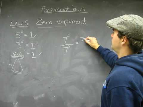 Exponent Law 6: Zero Exponent: Multiplication Math Help