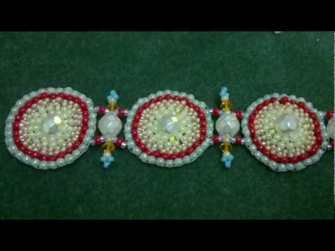 Beading4perfectionists: Brick stitch round beading tutorial -with miyuki and Swarovski