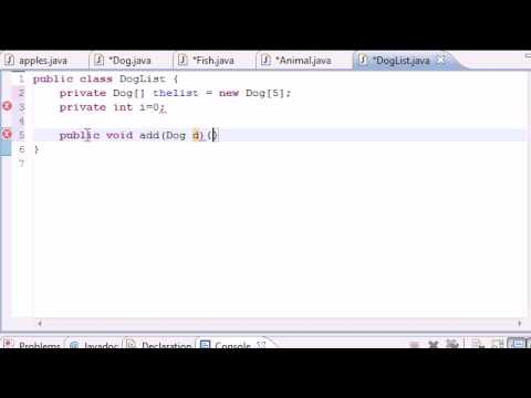 Java Programming Tutorial - 59 - Class to Hold Objects