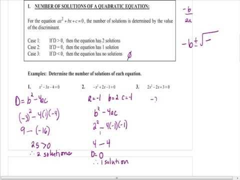 Algebra Lesson 10.7