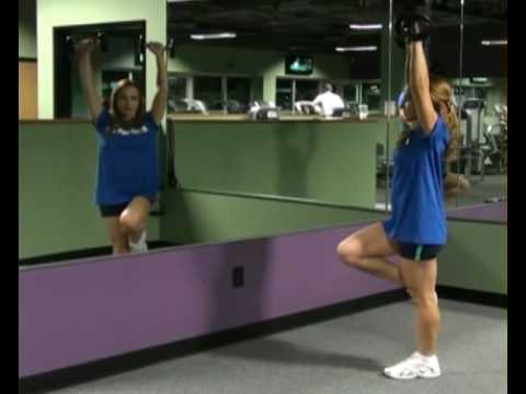 Shoulder Press, Core, Single Leg, Dumbbells : BeYourTrainer.com