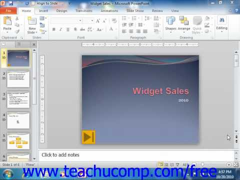 PowerPoint 2010 Tutorial The Scroll Bars Microsoft Training Lesson 1.8
