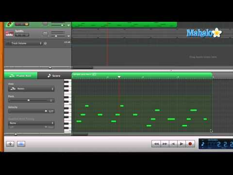 GarageBand Tutorial - Track Editor for MIDI - Transposing Notes