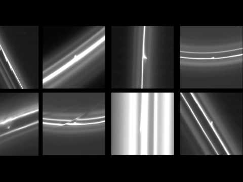 Cassini Movie Shows Blazing Trails In Saturn's F-Ring