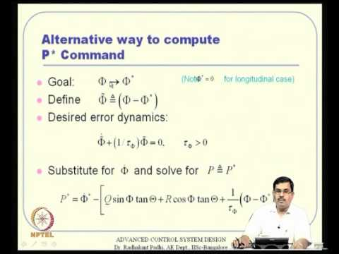 Mod-14 Lec-38 Neuro-Adaptive Design for Flight Control