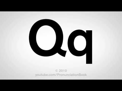 Basic English: How to Pronounce the Letter Q