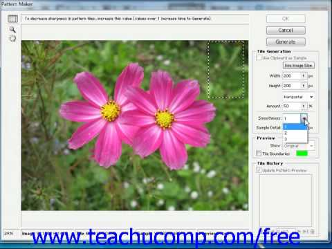 Photoshop CS5 Tutorial Using the Pattern Maker Adobe Training Lesson 8.6