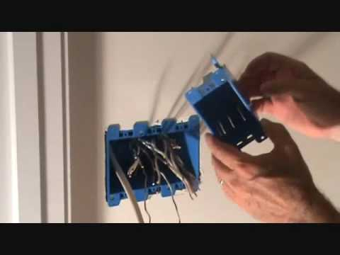 Installing a 3 gang electrical cut in light switch box