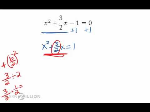Solve a quadratic equation by completing the square (2) - A-REI.4