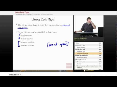 PHP: String Data Type