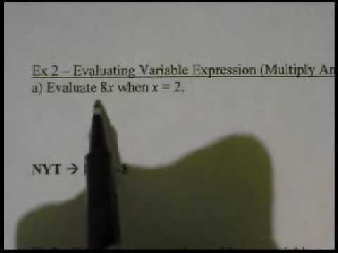 Course 2  Lesson 1.2 Variables and Expressions