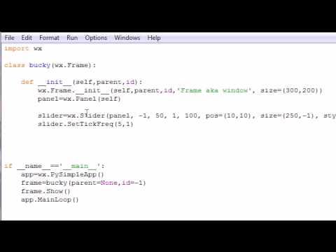 wxPython Programming Tutorial - 10 - Sliders