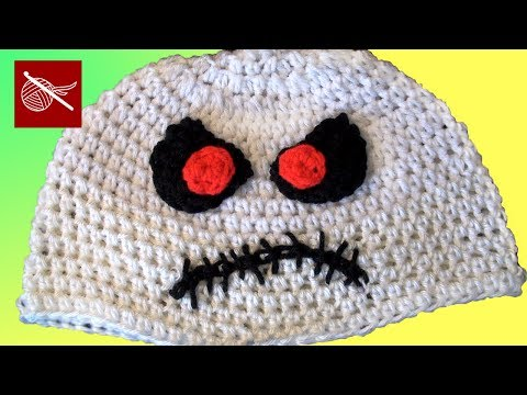 Zombie Skeletor Crochet Hat