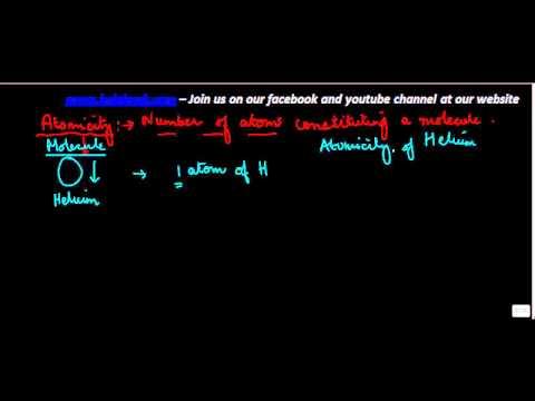 441.Class XI - CBSE, ICSE, NCERT -  Atomicity of a Molecule