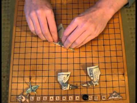 Origami Money Dollar Bill Boot Instructions