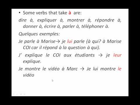 COI (complement d'objet indirect) by Mr. R.