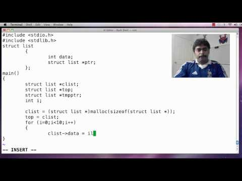 Simple Linked List in C Programming Lanugage