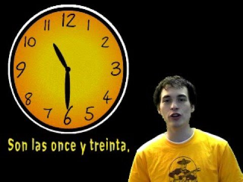 01014 Spanish Lesson - Telling Time (part 1)