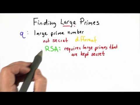 Finding Large Primes - CS387 Unit 3 - Udacity