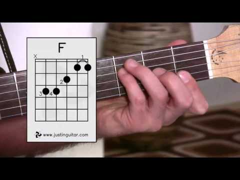 The Dreaded F Chord (Guitar Lesson BC-161) Guitar for beginners Stage 6