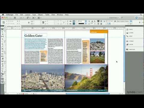 InDesign tutorial: How to create web graphics | lynda.com, InDesign Secrets series