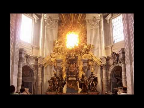 Bernini's Cathedra Petri in the Basilica of St. Peters, Vatican City, 1647-53