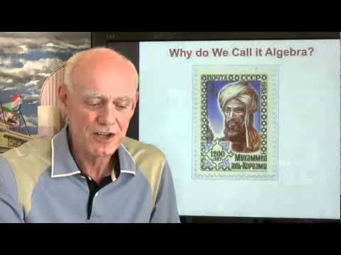 Why do we call it algebra?  Commentary.