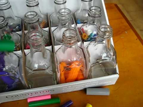 Toddler - Prewriting. Sorting tops in jars
