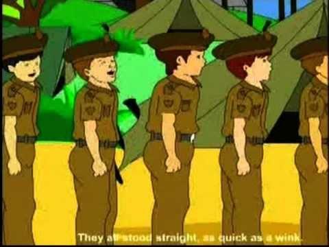 Nursery Rhymes - Five Little Soldiers - Kids Animation