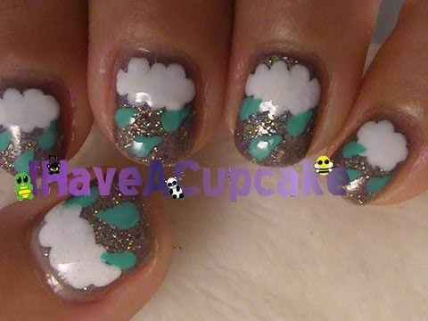 Stormy Clouds Nail Art