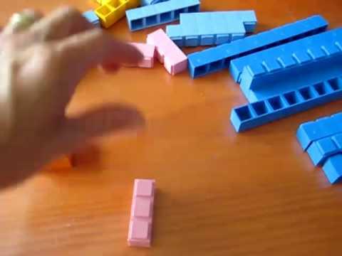 Preschool - Math. Rods squares
