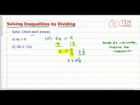 Solve Inequalities using Division