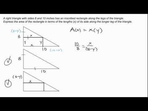 Precalculus   Generating Functions   Right Triangle with Inscribed Rectangle Intuitive Math Help