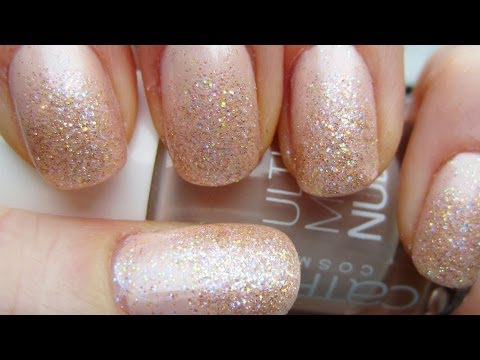 Nude Glitter Princess Nails (Prom, Weddings)