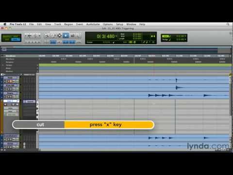 Pro Tools: How to convert drum transients to MIDI | lynda.com tutorial