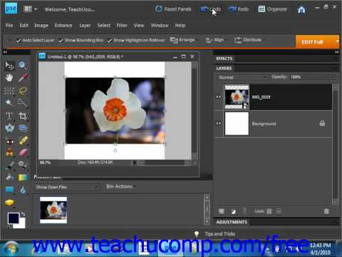 Photoshop Elements 9.0 Tutorial The Free Transform Command Adobe Training Lesson 13.4