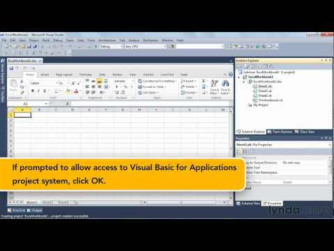 Visual Studio overview: Creating apps for Microsoft Office   lynda.com