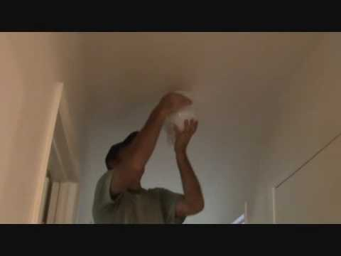 Replacing a light fixture: Installing the special bulb & globe
