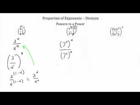 Properties of Exponents Division PT 1