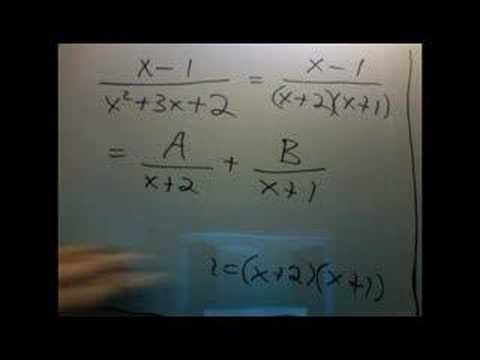 partial fractions part 2: First example